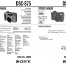 SONY DSC-S75 DSC-S85 DIGITAL CAMERA SERVICE REPAIR MANUAL