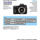 SONY DSLR-A700 DIGITAL CAMERA SERVICE REPAIR MANUAL