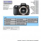 SONY DSLR-A350 DIGITAL CAMERA SERVICE REPAIR MANUAL