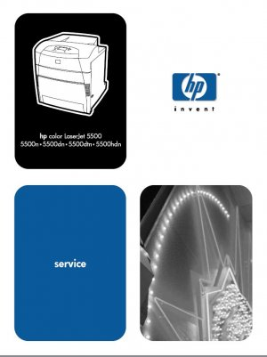 HP LASERJET 5500 5500n 5500dtn PRINTER SERVICE REPAIR MANUAL