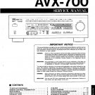 YAMAHA AVX-700 STEREO AMPLIFIER SERVICE REPAIR MANUAL