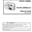 FUJIFILM FINEPIX 2600 ZOOM FUJI DIGITAL CAMERA SERVICE REPAIR MANUAL