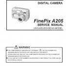 FUJIFILM FINEPIX A205 FUJI DIGITAL CAMERA SERVICE REPAIR MANUAL