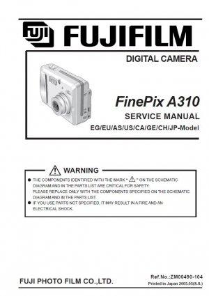 FUJIFILM FINEPIX A310 FUJI DIGITAL CAMERA SERVICE REPAIR MANUAL