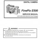 FUJIFILM FINEPIX E500 FUJI DIGITAL CAMERA SERVICE REPAIR MANUAL