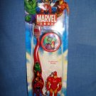 NEW Iron Man Marvel Travel Kit Soft Toothbrush Cap Buddy Spiderman Wolverine Hul
