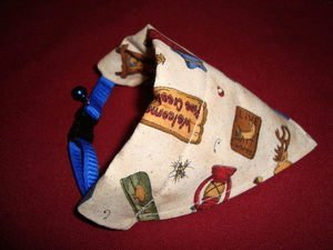 Small Breed Dog Cat Bandana Collar Cover Handmade Camping Camp Cotton Triangle