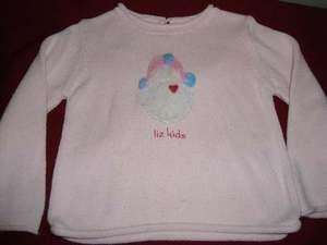 Liz Claiborne Baby Pink Sweater Girls 12 months EUC
