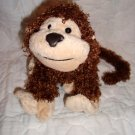 "GANZ Webkinz Plush Brown Tan Cheeky Monkey No Code 9"" Stuffed Animal Toy"