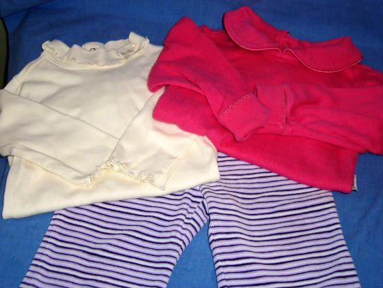 Gymboree baby Girls Shirts Pants Pink Purple 6-12 M MOS