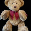 "18"" Russ Vtg Edition Honeysett Plush Jointed Teddy Bear Honey Brown Sits 13"" Bow"