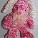 "Dan Dee bunny rabbit soft plush stuffed animal cream sheer bow ears feet 9"" toy"