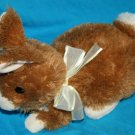 Ty Classic Bunny Rabbit Brown Cream Easter Bow 2009 Plush Stuffed soft Toy