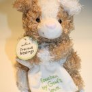 Hallmark Plush Pig Dog Precious Blessings Brown White Touched By Gods Love New