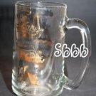 "WORLDS FAIR Vtg Glass Mug Expo 1967 Montreal Canada 67 Collectors Gold Tone 5.5"""