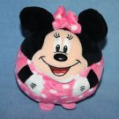 "TY Beanie Baby Ballz Disney MINNIE MOUSE 5"" Balls Pink Polka Dots Ball Toy Plush"