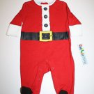 New Childz Play SANTA CHRISTMAS Red Sleeper Pajama 3-6 Months One Piece Snaps