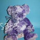 "Russ Girl Power GROOVY GUAVA Purple Teddy Bear 9"" Soft No Scent Bow Stuffed Toy"