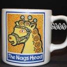 NAGS HEAD INN MUG Sign Horse English Burleigh Yellow Gold Staffordshire England