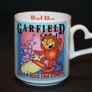 Garfield Last of the Red Hot Lovers DEVIL CAT Coffee Cup Mug Heart Handle 1978
