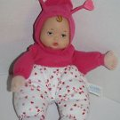 "Madame Alexander 2011 Little Baby DOLL 11"" With Hearts Plush Vinyl Stuffed"