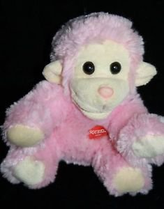 "Chrisha Playful Plush Pink MONKEY 6"" No Sound Sunglasses Stuffed Animal Soft Toy"