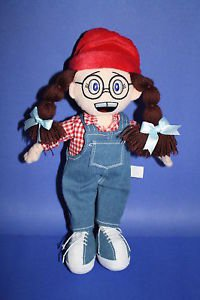 Reaping Nature PETUNIA Garner 2008 Plush Cloth Rag Doll Overalls Glasses Stuffed