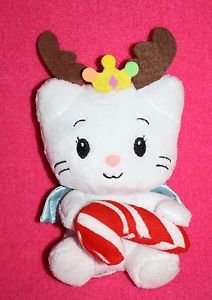 "Dan Dee Yuko Shimizu ANGEL CAT 6"" SUGAR Plush Soft Toy Hold Christmas Candy Cane"