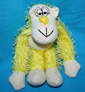 "Oriental Trading Yellow GORILLA MONKEY 7"" String Plush Stuffed Animal Soft Toy"