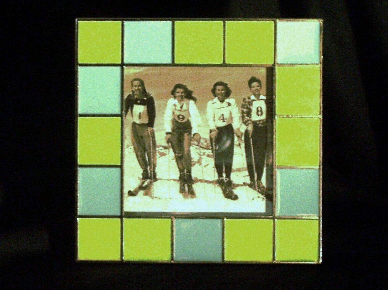 Blue & Green Glass Tile Frame