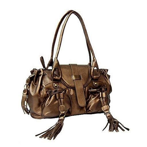 Designer Double Pocket Shoulder Bag (Bronze)