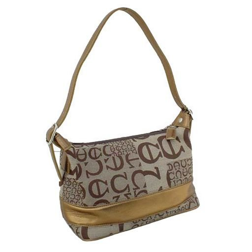 Metallic Bronze Satchel Tote (Brown)