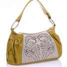 purse handbag studded lime yellowish white
