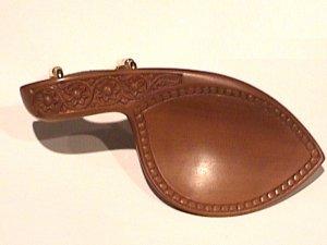 43118 Carved Boxwood Flowervine Violin Chinrest