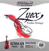 86131 D'Addario Violin Zyex Set 4/4M (Aluminum D), DZ310A-M
