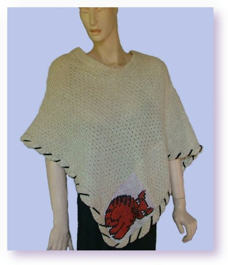 Loom knit cat poncho