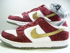 "Nike Dunk Low Pro SB White / Metallic Gold / Redwood ""Shanghai"""
