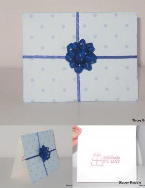 Blue Present Birthday Card