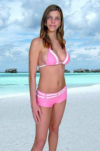 44 (2XL).New Prestige, Curacao bikini, triangle top, short