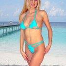 (M) 38 .New Prestige, Bellatrix g-string bikini, cut-out triangle top. Free shipping!