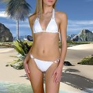 (XS) 34 .New Prestige, Geranium bikini, triangle top. Free shipping!