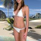 (2XL) 44. New Prestige, Geranium bikini, triangle top. Free shipping!