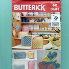 1980s vintage Potholders, Applicance Covers uncut craft sewing pattern Butterick 441