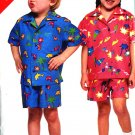 Unisex Summer Shirt Shorts childrens 5 6 6x Butterick 5648
