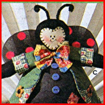Animals w/Styrofoam Bodies and Clothes, Rabbit, Bumble Bee, Lady Bug, Frog - Simplicity 8101