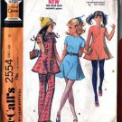 Tunic Top, Dress, Pants Retro 70s sewing pattern McCalls 2554