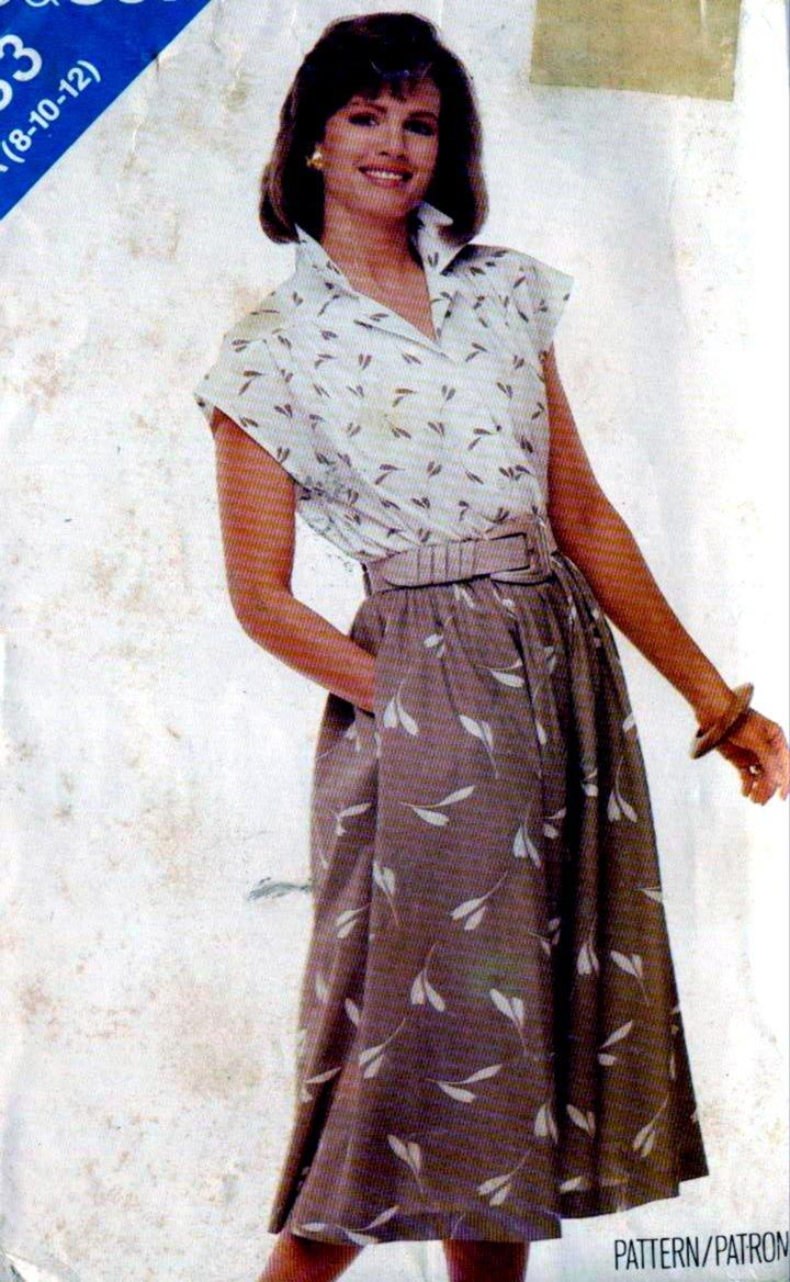 1980s Skirt, Top Womens Sewing Pattern Butterick 5383