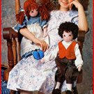 DOLLS Softsculptured Country Girl n Boy n Clothing vintage 1980s Butterick 5751