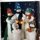 Christmas Snowmen Caroler Dolls in Hats n Scarfs McCalls 8888