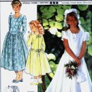 girls SCALLOPED Neckline Formal, Flower Girl Dress vintage sewing pattern Burda 3277